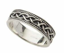 Celtic Plait with Eternal Celtic Knot Irish Sterling Silver Ring
