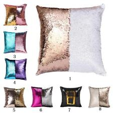 Double Color Reversible Sequin Pillow Cases Mermaid Glitter Sofa Cushion Covers
