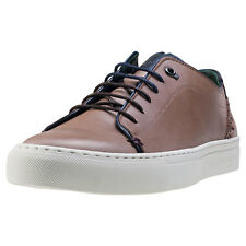 Ted Baker Kiing Mens Brown Leather Casual Trainers Lace-up Genuine Shoes