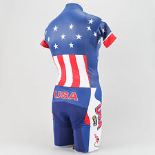 Skins Team USA SS Skinsuit Road Mountain Bike Time Trial America