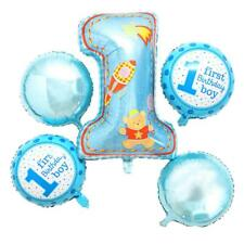 5pcs/Set Foil Balloons 1st Birthday Boy Girl Helium Balloon Baby Shower Party