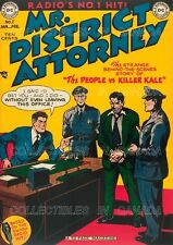 """MR. DISTRICT ATTORNEY 1949 Killer Kane = POSTER Not Comic Book 7 SIZES 19"""" - 36"""""""