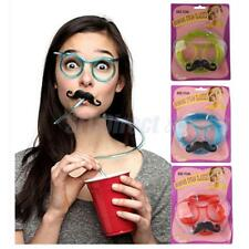 Funny Glasses Mustache Drinking Straw Tubed Glasses Crazy Eye Piped Glass Frames