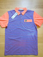Lyle and Scott green eagle golf polo shirt,blue stripe ,sizes med,lg.,rrp £65
