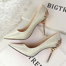 New  Hot Women Party Stiletto Pointed-toe High Heels Pumps Wedding Party Shoes