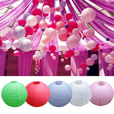 "8"" 10"" 12"" Chinese Round Paper Lanterns Lamp Shade Wedding Party Decor Fashion"