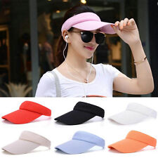 2017 Unisex Adjustable Plain Visor Outdoor Sun Hat Sport Golf Tennis Beach Cap d