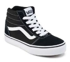Youth VANS MILTON HI Black/White Athletic Sneakers Casual Skate Fashion Shoes
