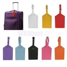 Luggage Tags Leather Business Suitcase Tags Name Label ID Tag Travel Accessories