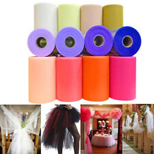 "6"" Wide x 100 Yards Tutu Tulle Rolls Soft Nylon Netting Skirts Fabric Wedding"