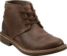 Clarks Medway Smith Taupe Distressed Mens Ankle Boots