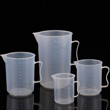 Kitchen Baking / Lab Test Plastic Graduated Beaker Measuring Cup With Handle Lot