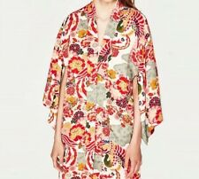 New Womens Ladies Floral Print Cardigan Open Front Kimono Blouse Tops
