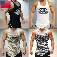 US Men's Camouflage Fitted Tank Top Tank Top Sports Camisole Vest Casual Shirt