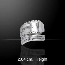 Sterling Silver SPOON Ring - intricate decorative design