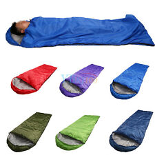 Outdoor Spring Autumn Summer Sleeping Bag Camping Hiking With Carrying Case
