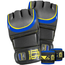 Bad Boy Pro Series 3.0 Gustafsson Mauler MMA Training Gloves - Black/Blue/Yellow