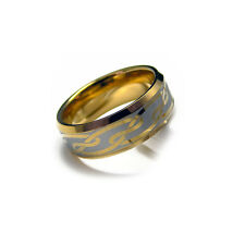 Men's Gold Tone Tungsten Carbide Engraved Celtic Ring