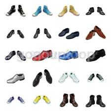 """1/6 Scale Suit Shoes Canvas Shoes Boots for 12"""" Hot Toys Male Action Figures"""