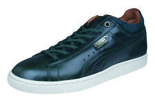 Puma Stepper Luxe Mens Leather Sneakers / Casual Sports Shoes - Black