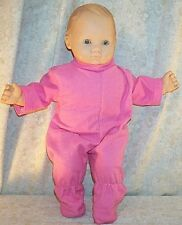 """Doll Clothes Baby Girl fits 15"""" inch Bitty Pajamas Footed Rose Pink NEW"""