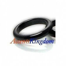 Accents Kingdom Two Thin Black Magnetic Hematite Band Rings SZ 6 7 8 9