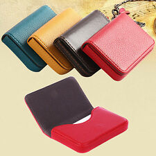 Faux Leather Magnetic Closure Business ID Credit Card Holder Pocket Box Rapture