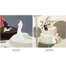 Western Style Synthetic Resin Bride & Groom Wedding Cake Topper Romantic T0M4