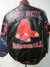 Boston Red Sox Mens Medium, Large and 2XL Full Zip Faux Leather Jacket JL BRX 46