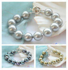 """D0039 8"""" 14mm round SOUTH SEA SHELL PEARL BRACELET"""