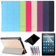 Auto Wake/Sleep Smart Leather Cover Stand Case For Amazon Fire HD 8 2017 + Film