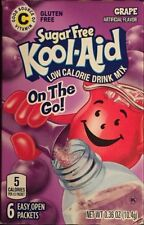 GRAPE KOOL-AID SUGAR FREE DRINK MIX 6 PACKS EACH (Chose From 2, 4, 6 and 12 Pack