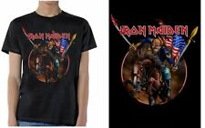 Iron Maiden Maiden England Custer USA America Flag Metal Adult Mens T Tee Shirt