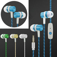 Wired Headset 3.5mm Jack Noise Reduction In-ear Earphone With Mic 1.2m Cable