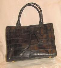 Dooney & Bourke Moc Croc Stamped Blk Leather Hand Held Ladylike PURSE Made Italy