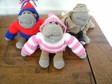 Hand knitted  Hoodie  ( OUTFIT ONLY )        for standard size  pg tips monkey