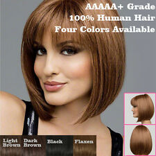 Womens Natural Short Straight BOB Hair Synthetic Cosplay Wigs Party Bangs Wigs