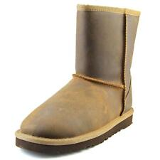 Ugg Australia Kids Classic Short Leather Youth  Leather Brown Winter Boot