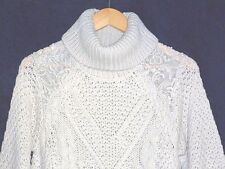 NEW 2017 Falmer Heritage Size 12  JUMPER Sweater Roll Neck - Lace Matalan