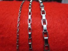 """2/4/5 MM SILVER STAINLESS STEEL LONG BOX LINK CHAIN NECKLACE FROM 18""""-48"""""""