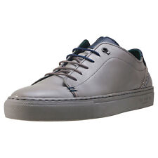 Ted Baker Prinnc Mens Grey Leather Casual Trainers Lace-up Genuine Shoes