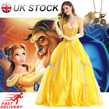 Belle Cosplay Costume Adult Dress Beauty and The Beast Princess Fancy Halloween