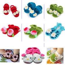 Handmade Newborn Baby Infant Boys Girls Crochet Knit Toddler Booties Crib Shoes