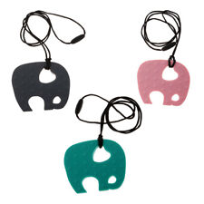 Baby Nursing Supplies for Mom Silicone Elephant Teething Pendant Necklace