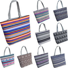Fashion Women Printing Canvas Larger Shopping Handbag Shoulder Tote Shopper Bag