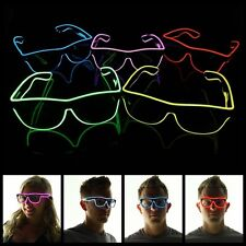 Glow Light Glasses LED Flashing EL Wire Frame Shades Neon for Party Disco Club
