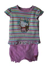 Hello Kitty Baby Girl Clothes Sets .9-12m Outfit + Leather baby Shoes  BNWT