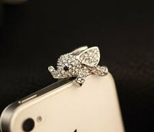 Crystal Elephant Anti Dust Plug Stopper / Ear Cap / Cell Phone Charms for