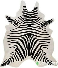 Zebra Cowhide Rug Brazilian Cow Hide Area Rugs Skin Leather