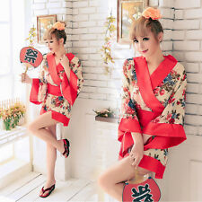 Japanese Kimono Cosplay Uniform Costume Suit Women Sexy Dress Outfit Clothing
